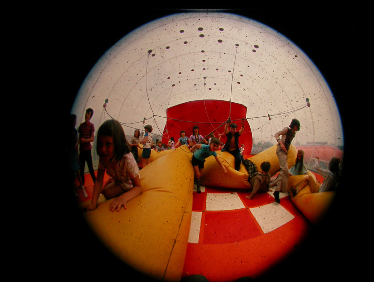 Inside an Action Space inflatable. Photo courtesy Huw Wahl.