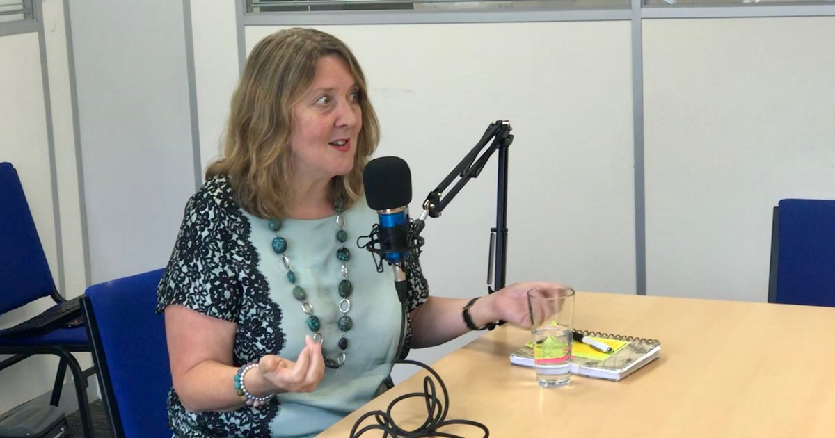 Helen Milner speaking on the Sheffield Digital Podcast